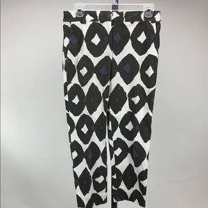 MAxMara Black and White Patterned Trousers